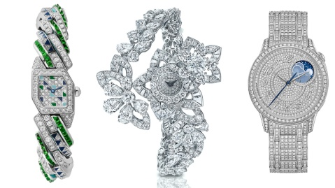 Cartier, Graff, and Vacheron Constantin High-Jewelry Watches
