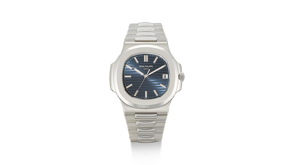 The Patek Philippe Nautilus that fetched a record sum at Sotheby's.