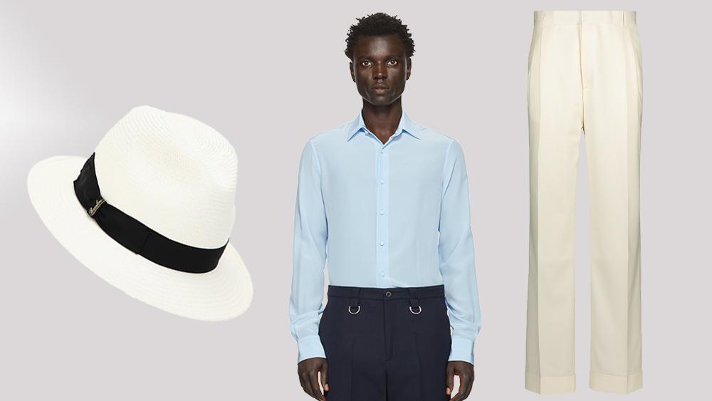 Borsalino hat, Valentino shirt, Casablanca trousers