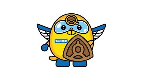 Quaran, Japan's quarantine mascot