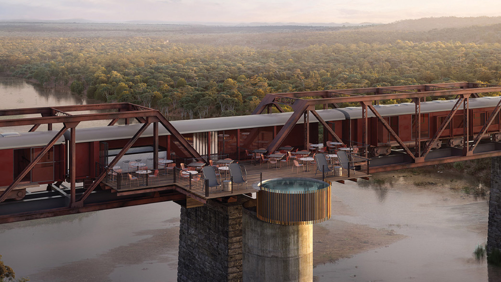 This Insane New Boutique Hotel Was Built in a Restored Train Station Atop a South African Bridge