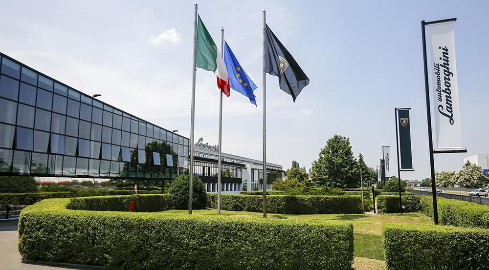 Lamborghini headquarters in Sant'Agata Bolognese, Italy