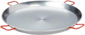 La Ideal Polished Steel Paella Pan
