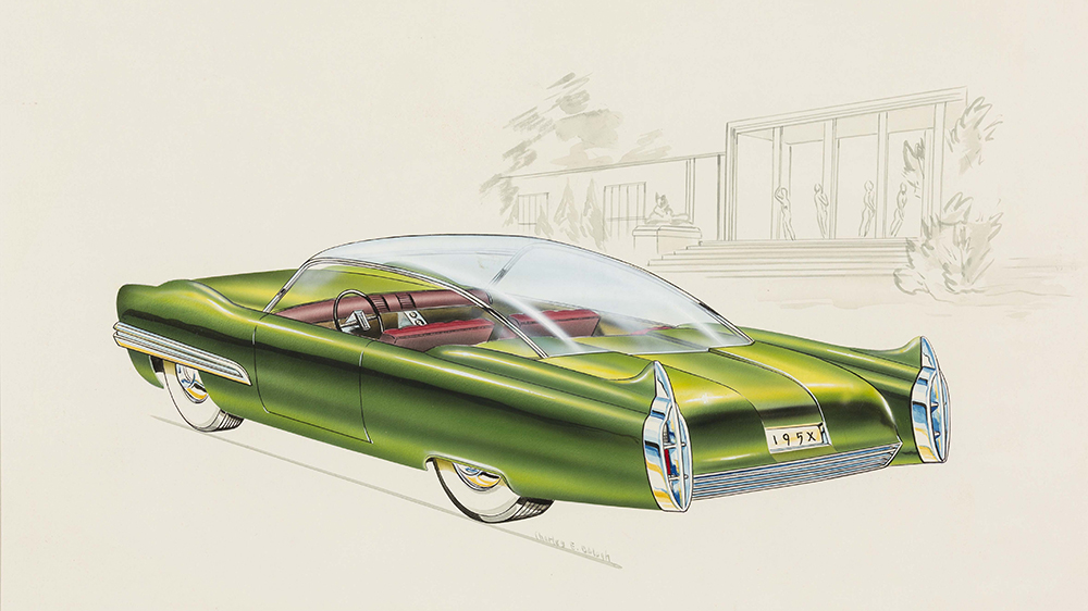 Lincoln XL-500 Concept Car, 1952, designed by Charles E. Balogh