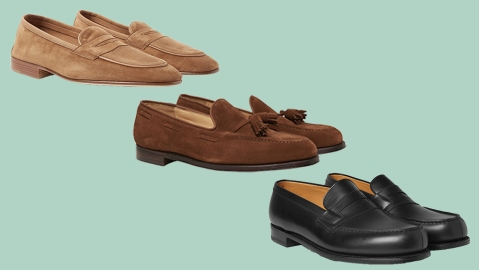 Loafers from Edward Green, George Cleverly, JM Weston.