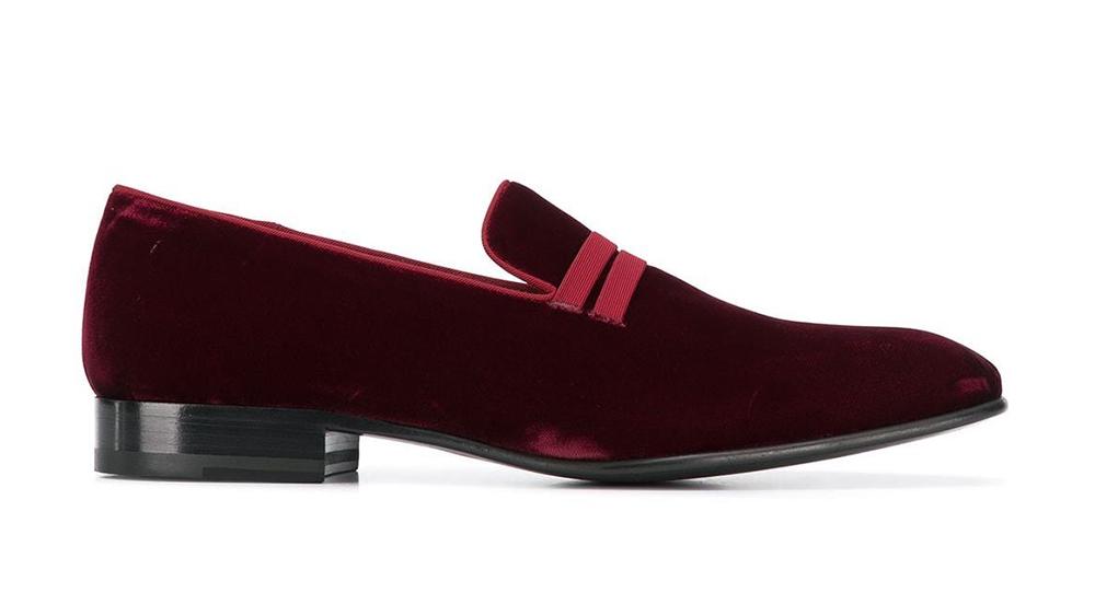 Malone Souliers velvet loafer