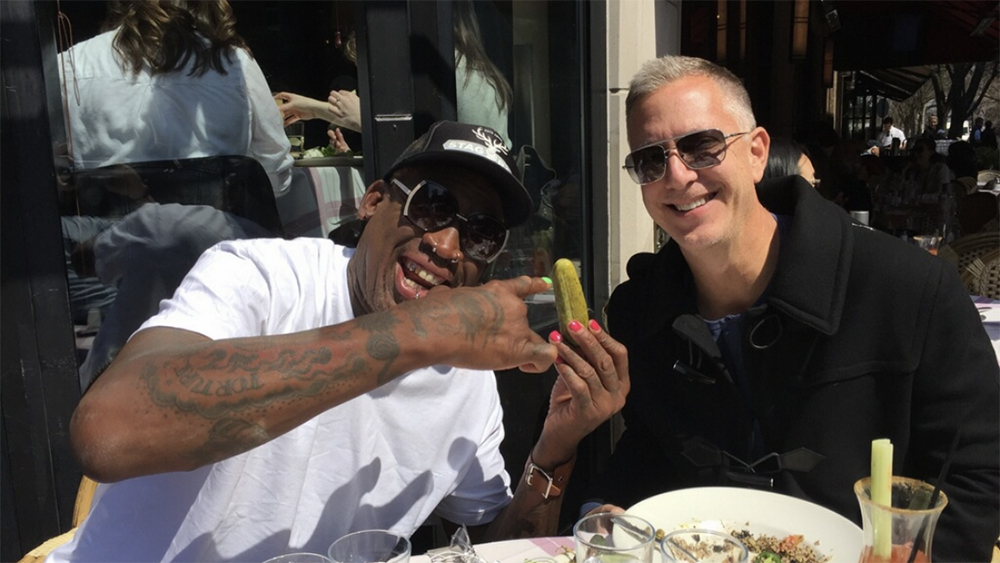 Dennis Rodman and Dwight Manley