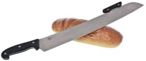 American Metalcraft Pizza Knife with Double Handles