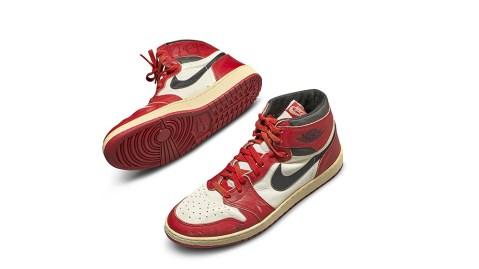 Michael Jordans Game-Worn Autographed Nike Air Jordan 1s
