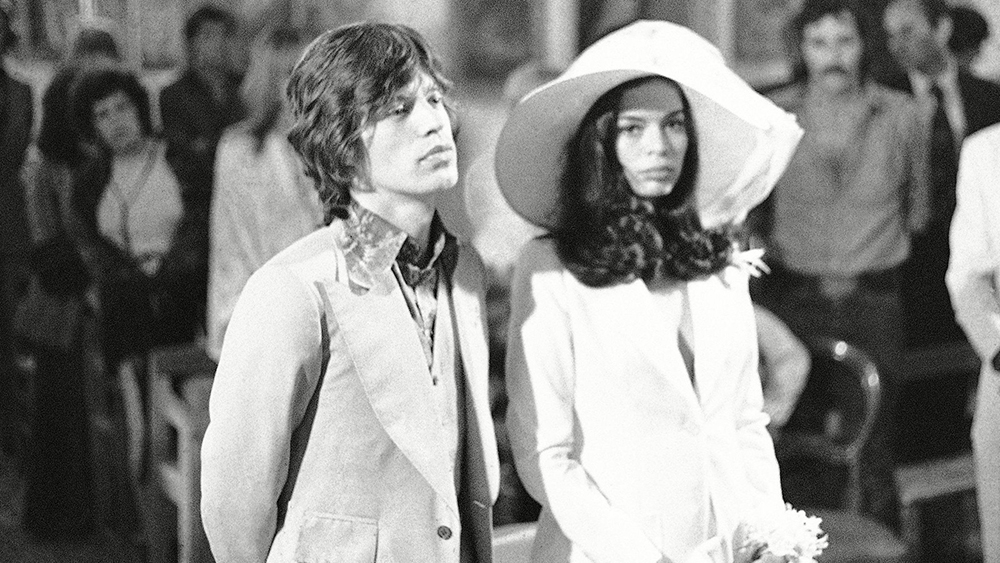 Mick Jagger, Bianca Perez-Mora Macias, Bianca Jagger Rolling Stones singer Mick Jagger, left, and his bride, Bianca Perez-Mora Macias, are shown during their wedding in the Sainte-Anne chapel, Saint Tropez, FranceMick Jagger 1971, Saint Tropez, France