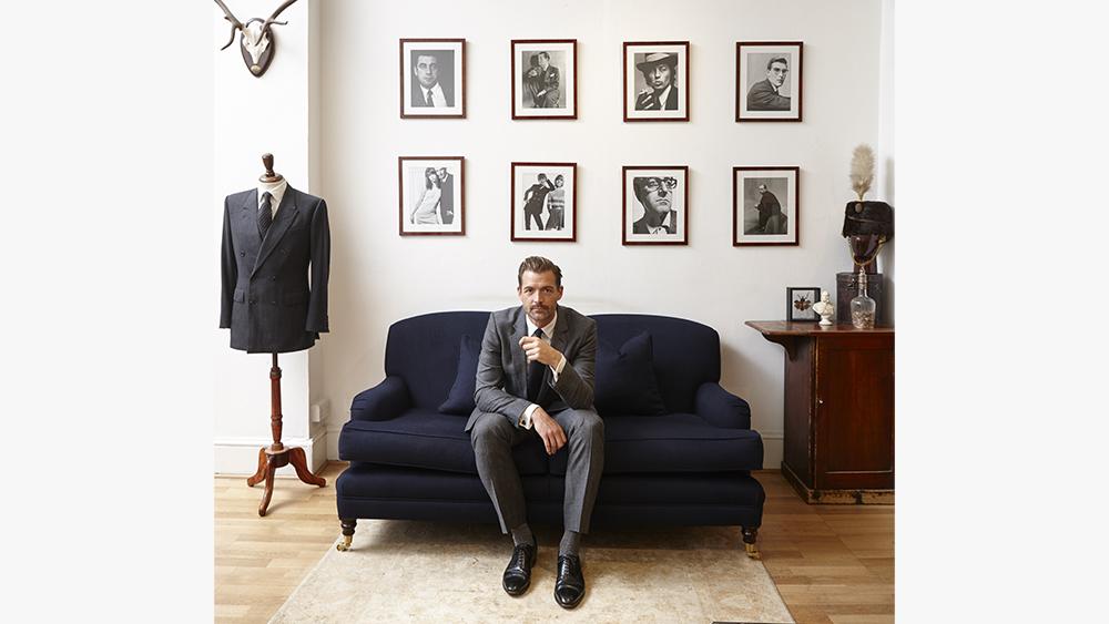 Patrick Grant at the Norton & Sons showroom.