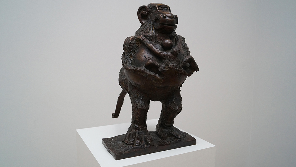 Picasso's Baboon and her Young. 1951. Bronse.