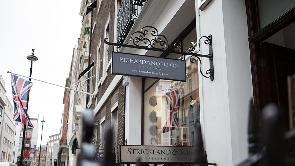 Richard Anderson's shop at 13 Savile Row.