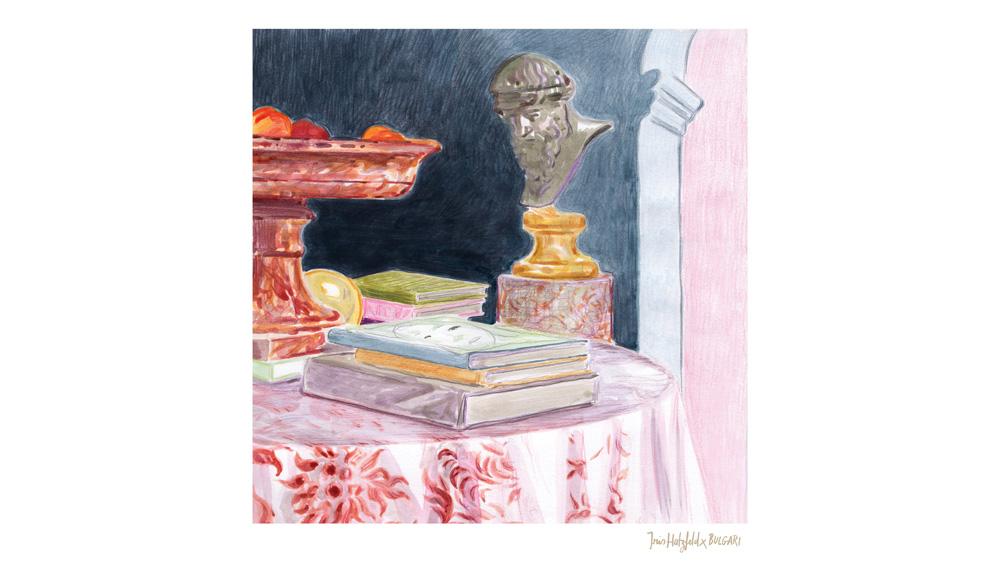 Iris Hatzfield Illustration for Bulgari