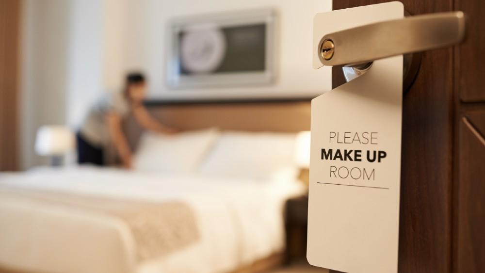 Hotel room cleaning housekeeping