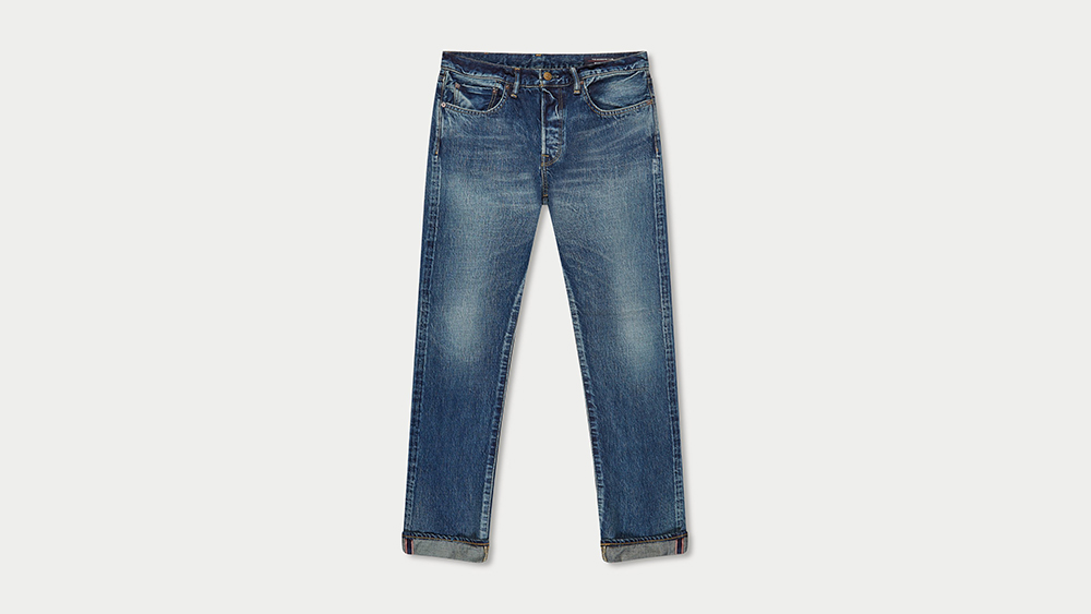 The Workers Club Slim Fit Legacy Wash selvedge jeans