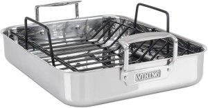 Viking Culinary Stainless Steel Roasting Pan with Nonstick Rack