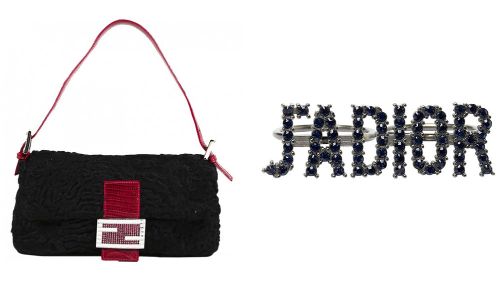 A Fendi Baguette and J'Adior jewel, two of Vestiaire's fastest-selling styles.