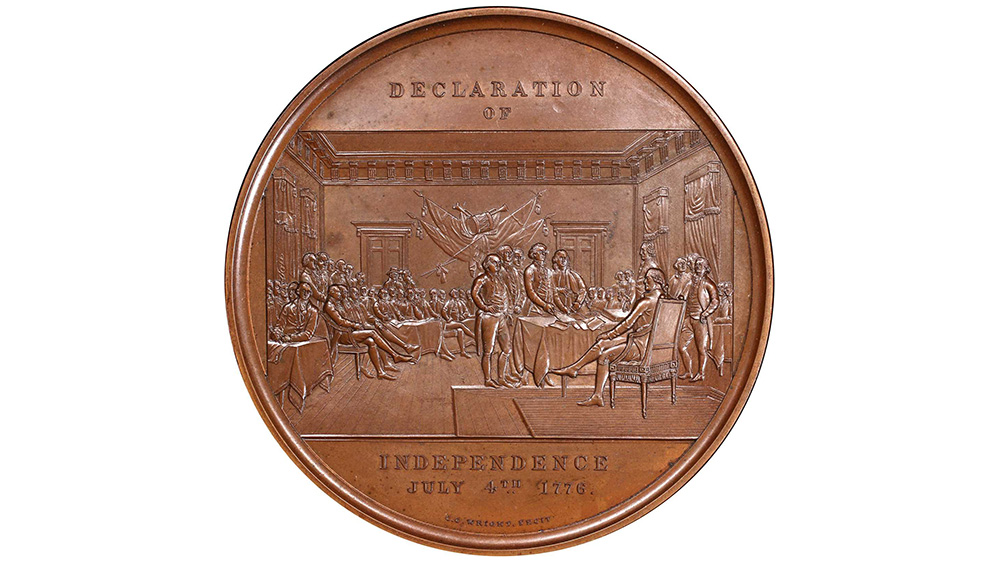 Declaration of Independence Signing Ceremony medal by Charles Cushing Wrigh