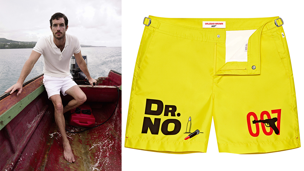 A polo and two swim trunks from the new collection.