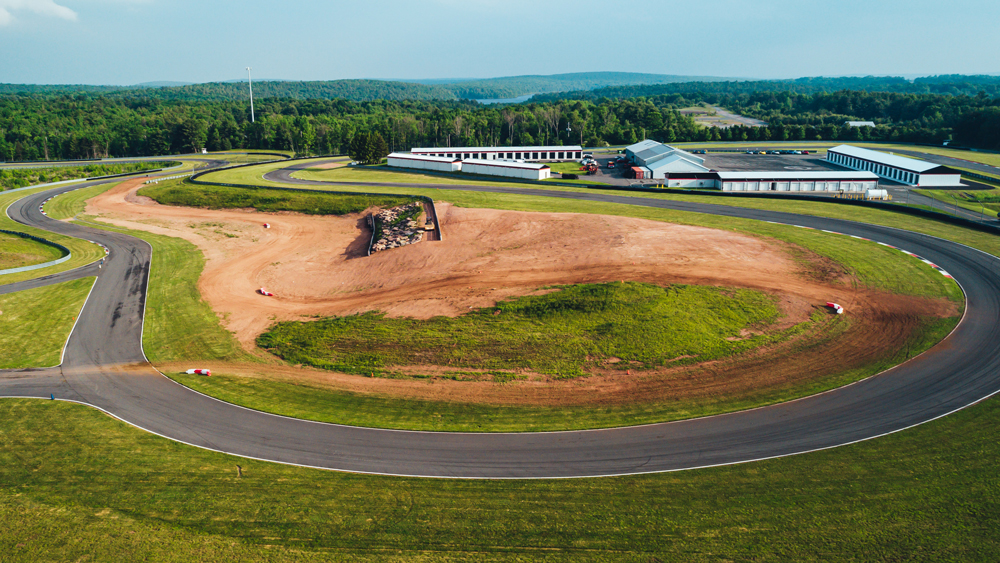 The new off-road track component at Monticello Motor Club.