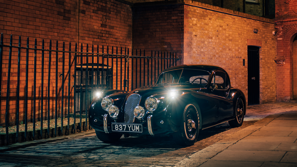 An electric Jaguar XK120 converted by Lunaz.