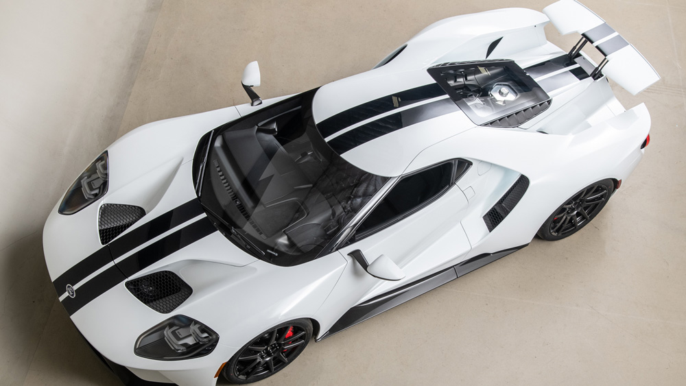 The 2017 Ford GT owned by racer Joey Hand.