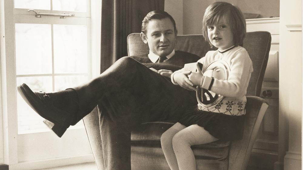 Bruce McLaren at home with his daughter Amanda.