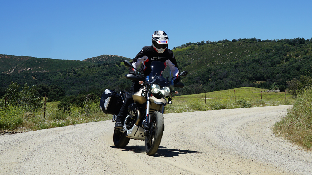 Moto Guzzi's V85 TT Travel adventure bike.