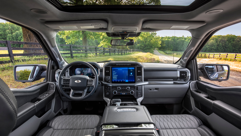 Inside the 2021 Ford F-150 Limited.