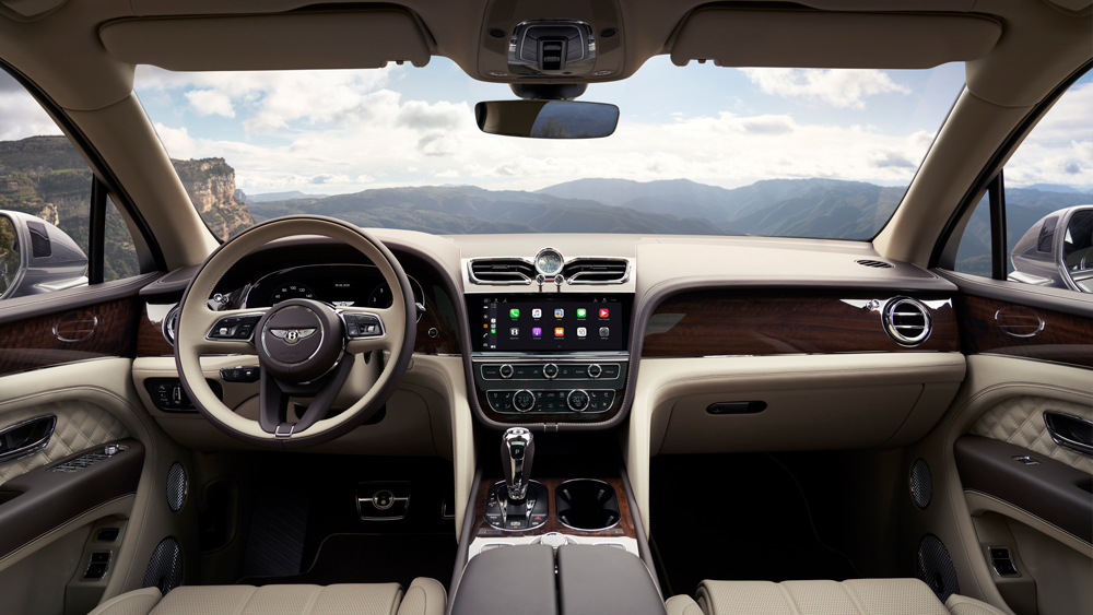 Inside the 2021 Bentley Bentayga.