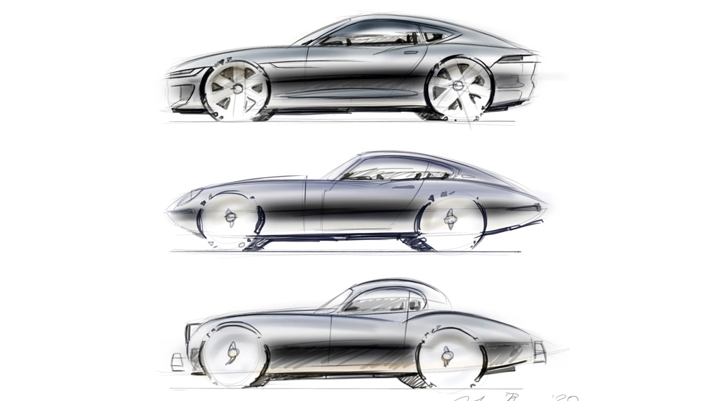 Sketches by Julian Thomson, Jaguar's director of design.