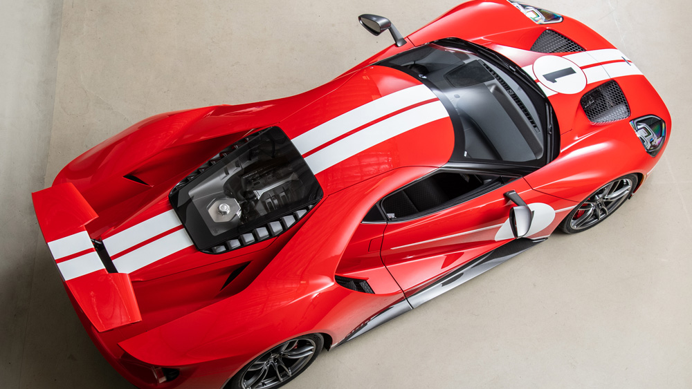 The 2018 Ford GT Heritage Edition owned by one of racing's winningest drivers, Scott Pruett.