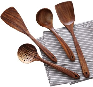 NAYAHOSE Teak Kitchen Utensils Set