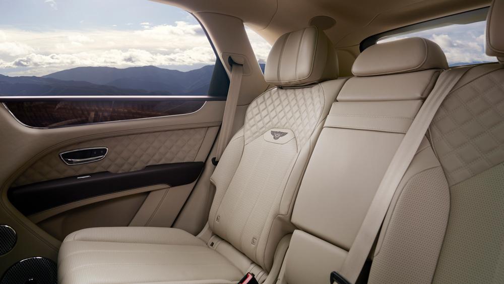 Inside the 2021 Bentley Bentayga.