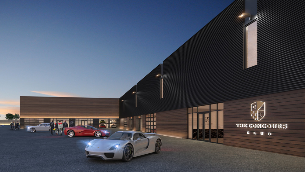 A rendering of the club's exterior aesthetic.