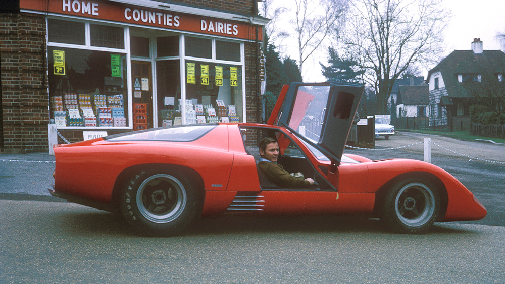 Bruce McLaren in his prototype M6GT, a road car that never made it to production.