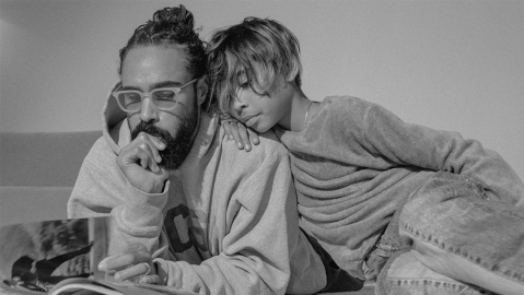 Fear of God designer Jerry Lorenzo in a pair of glasses from the collaboration.