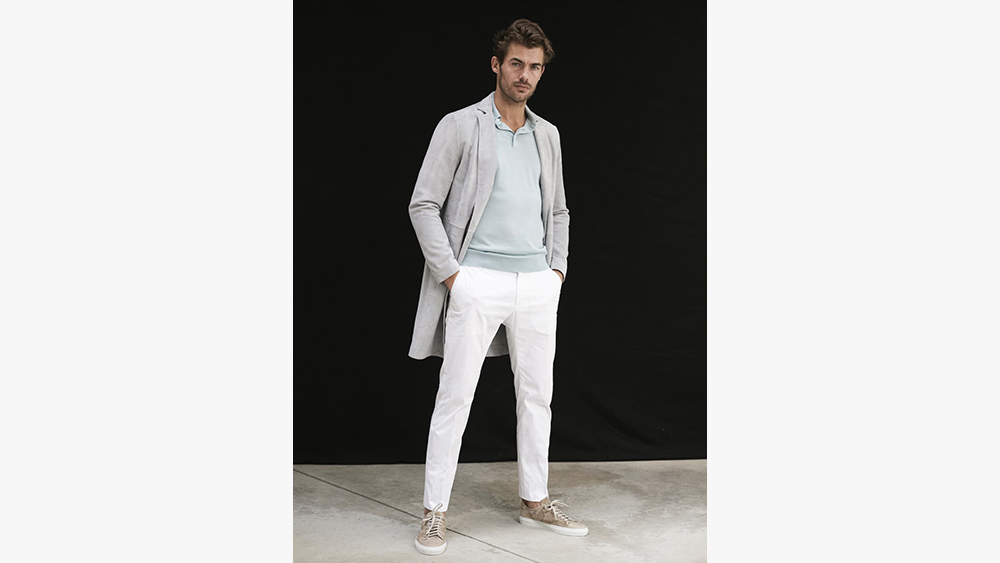 A look from Brett Johnson's spring collection