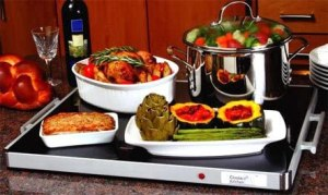 Classic Kitchen Deluxe Glass Buffet Warming Tray