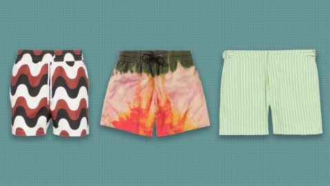 Swim trunks by Frescobal Carioca, Loewe and Bugatchi
