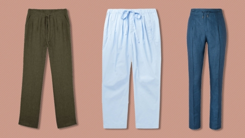 Drawstring pants from Informale, Massimo Alba and Isaia