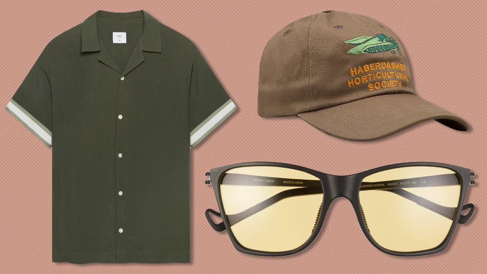 Ché shirt, Drake's baseball cap, District Vision sunglasses