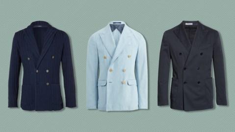 Double-breasted blazers from Lardini, Polo Ralph Lauren and Boglioli