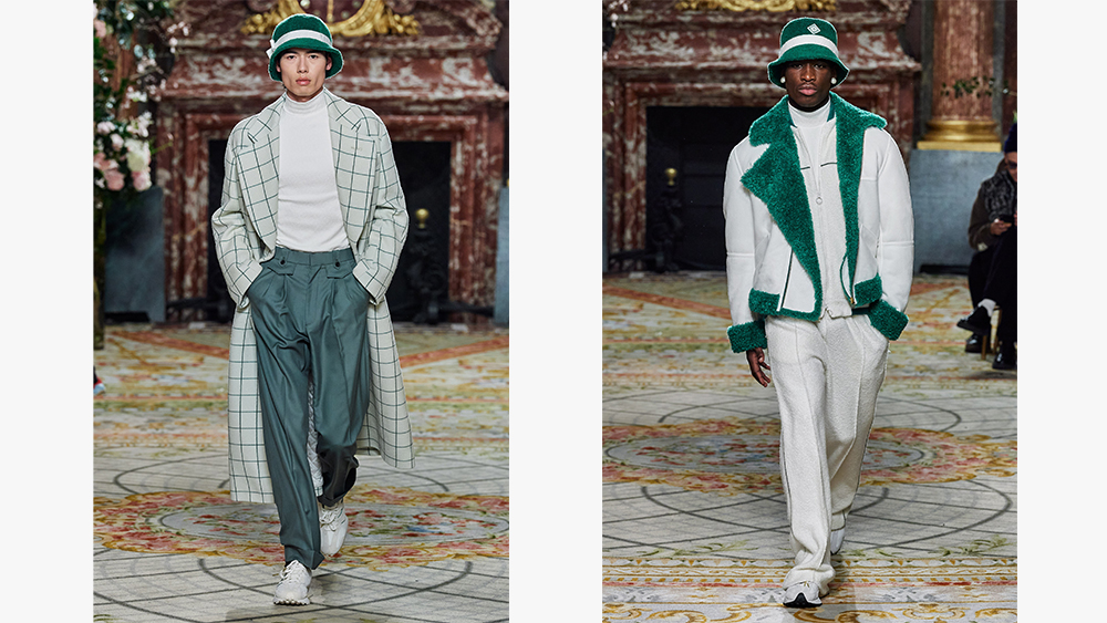 Looks from Casablanca's fall collection.