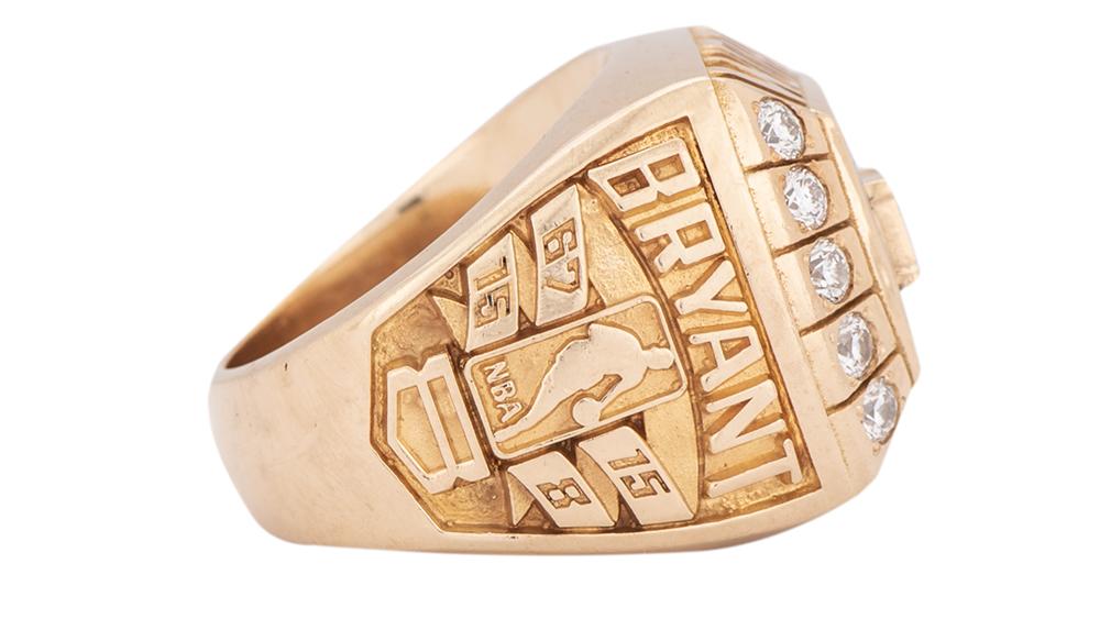 "The championship ring that Kobe Bryant gave Joe ""Jellybean"" Bryant"
