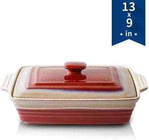 KOOV Ceramic Casserole Dish with Lid
