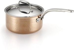 Lagostina Martellata Copper Saucepan