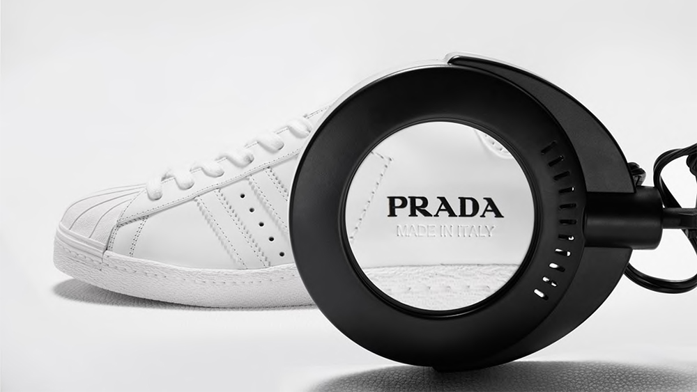 The sneaker from Prada's collaboration with Adidas.