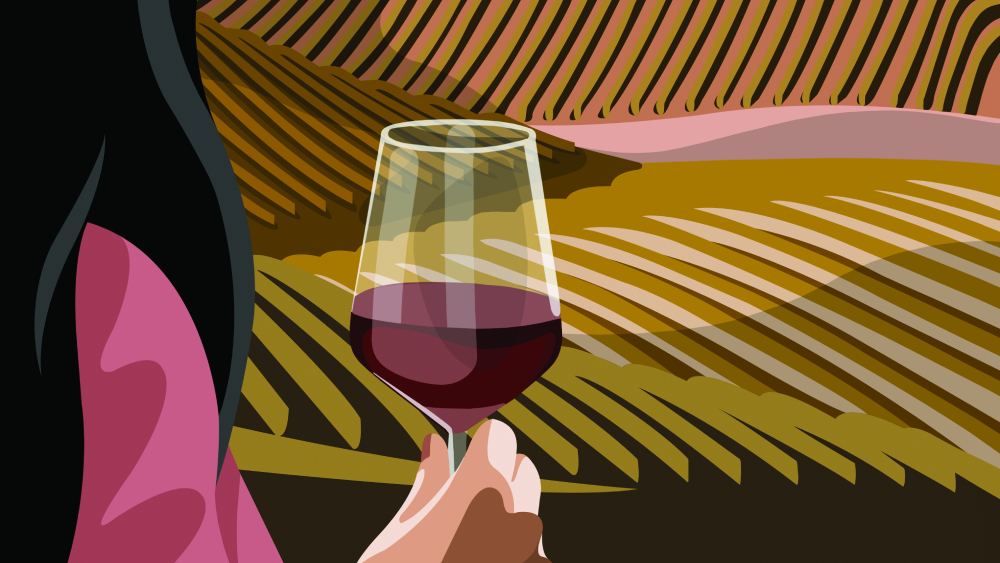 best of the best wine illustration